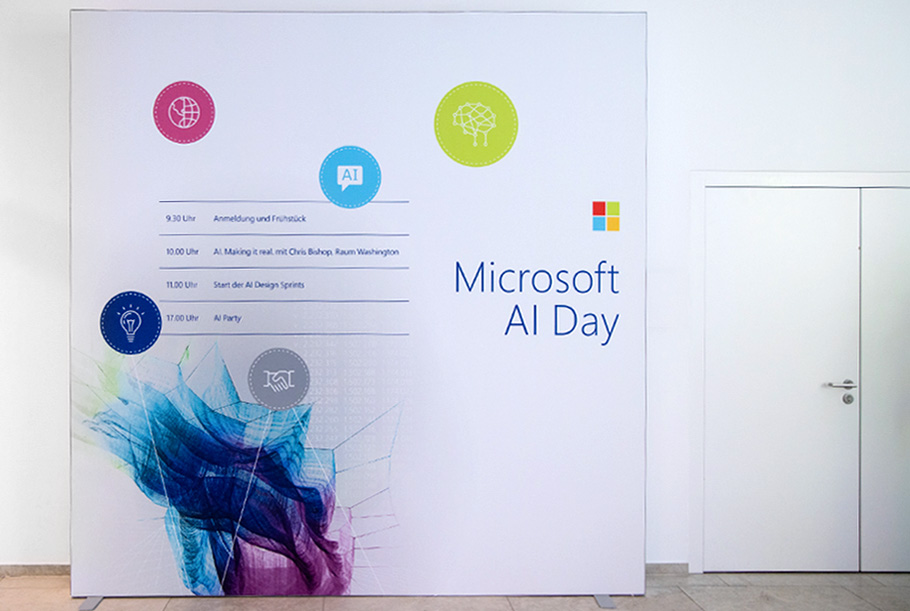Microsoft AI Day Welcome Board