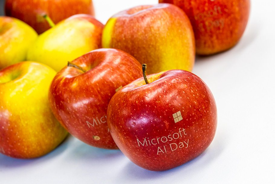 Microsoft AI Day apple branding